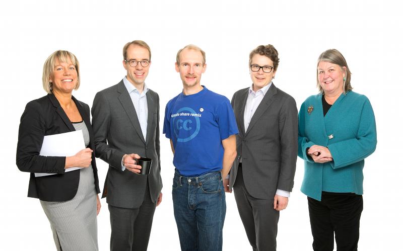Photo by Mikko Säteri: Maria Rehbinder, Martin von Willebrand, Tarmo Toikkanen, Henri Tanskanen and Liisa Laakso-Tammisto